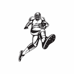 Football Wall Decal - Vinyl Decal - Car Decal - DC 010