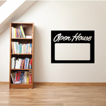 Open House Wall Decal - Vinyl Decal - Car Decal - Business Sign - MC104