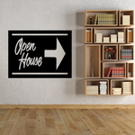 Open House Wall Decal - Vinyl Decal - Car Decal - Business Sign - MC105