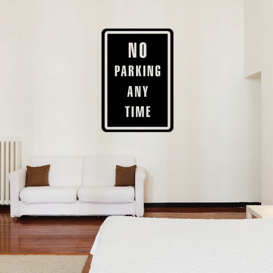 No Parking Any Time Wall Decal - Vinyl Decal - Car Decal - Business Sign - MC106