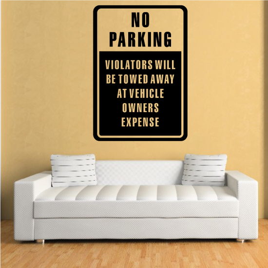 No Parking Wall Decal - Vinyl Decal - Car Decal - Business Sign - MC107