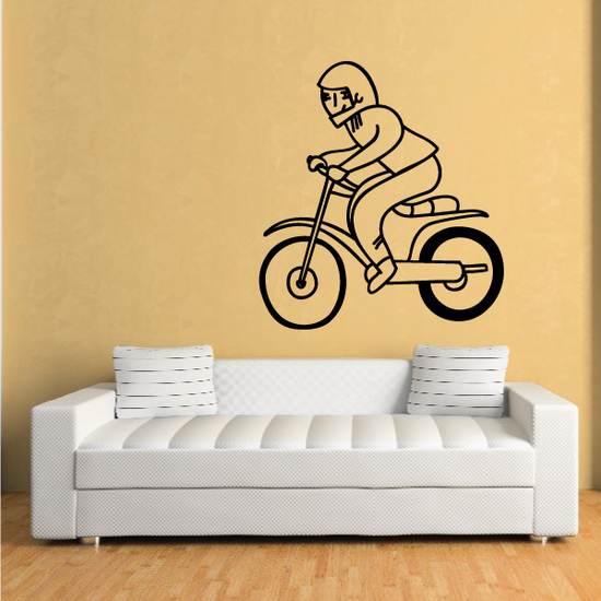 Child Riding Bicycle Decal