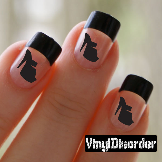 Shoes KC009 Fingernail Art Sticker - Vinyl Finger Nail Decals