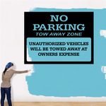 No Parking Tow Away Zone Wall Decal - Vinyl Decal - Car Decal - Business Sign - MC110
