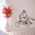 No Footer Bike Rider Decal
