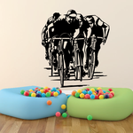 Group of Bike Cyclists Decal