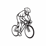Cycling Rider Decal