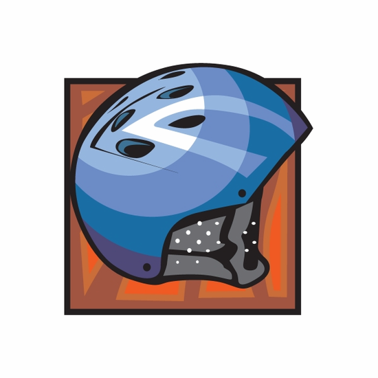 Blue Bmx Helmet Sticker