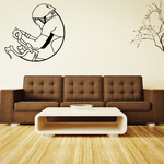 Abstract Bicyclist Decal