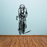 Focused Detailed Cyclist Decal