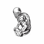 Football Wall Decal - Vinyl Decal - Car Decal - DC 023