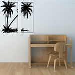 Palm Trees And Sunset Wall Decal - Vinyl Decal - Car Decal - Business Sign - MC125