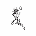 Football Wall Decal - Vinyl Decal - Car Decal - DC 029