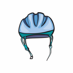 Cycling Bicycle Safety Hat Sticker