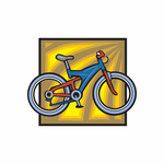 Colorful Bicycle Sticker