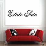Estate Sale Wall Decal - Vinyl Decal - Car Decal - Business Sign - MC145