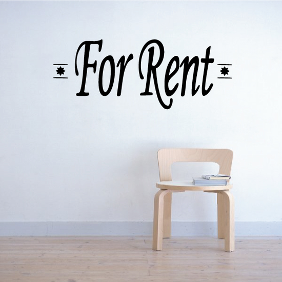 For Rent Wall Decal - Vinyl Decal - Car Decal - Business Sign - MC147