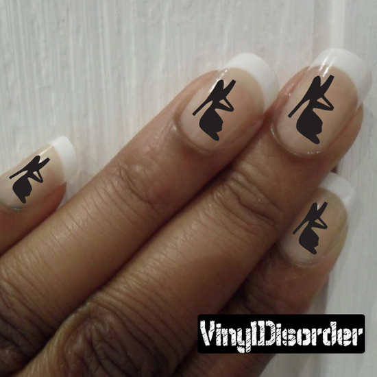 Shoes KC023 Fingernail Art Sticker - Vinyl Finger Nail Decals