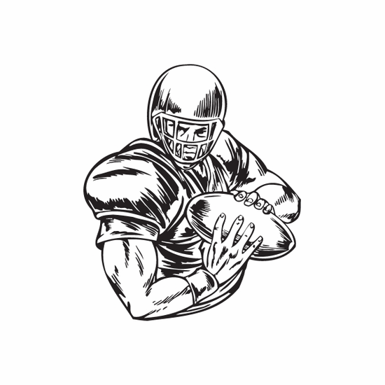 Football Wall Decal - Vinyl Decal - Car Decal - DC 043