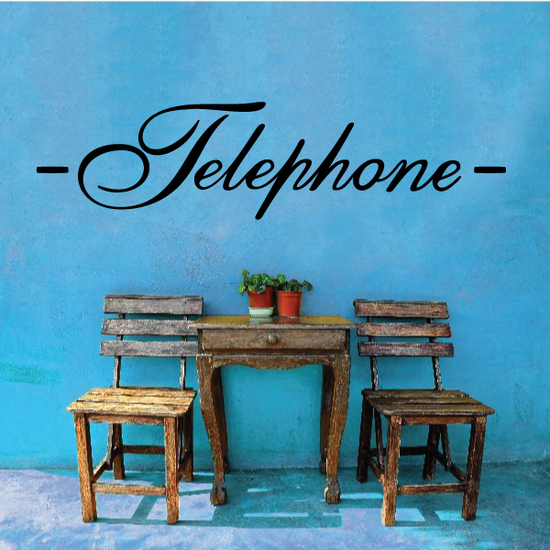 Telephone Wall Decal - Vinyl Decal - Car Decal - Business Sign - MC157