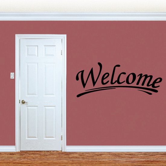 Welcome Wall Decal - Vinyl Decal - Car Decal - Business Sign - MC158