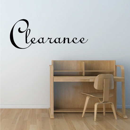 Clearance Wall Decal - Vinyl Decal - Car Decal - Business Sign - MC164
