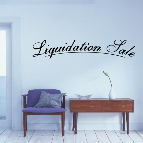 Liquidation Sale Wall Decal - Vinyl Decal - Car Decal - Business Sign - MC171