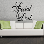 Special Deals Wall Decal - Vinyl Decal - Car Decal - Business Sign - MC177