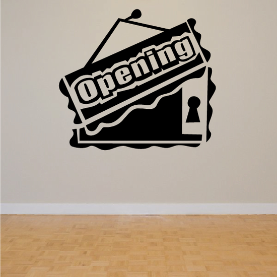 Opening Wall Decal - Vinyl Decal - Car Decal - Business Sign - MC181