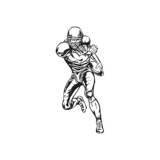 Football Wall Decal - Vinyl Decal - Car Decal - DC 065