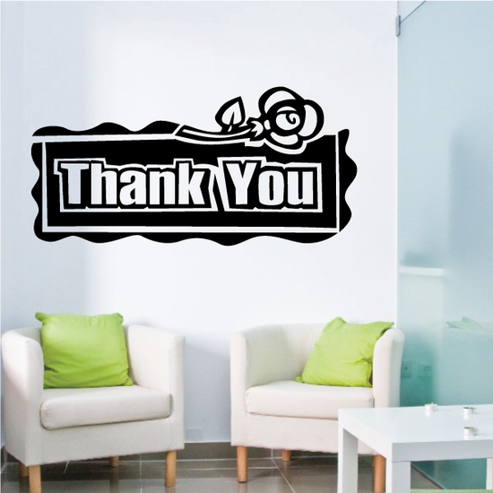Thank You Wall Decal - Vinyl Decal - Car Decal - Business Sign - MC187
