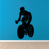 Touring Bicycle Rider Decal