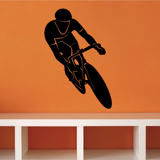 Touring Bicycle Cyclist Veering Decal