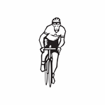 Cycling Pedaling Forward Decal