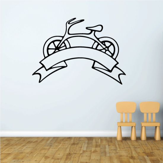 Bicycle with Banner Design Decal