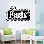 Party Wall Decal - Vinyl Decal - Car Decal - Business Sign - MC202
