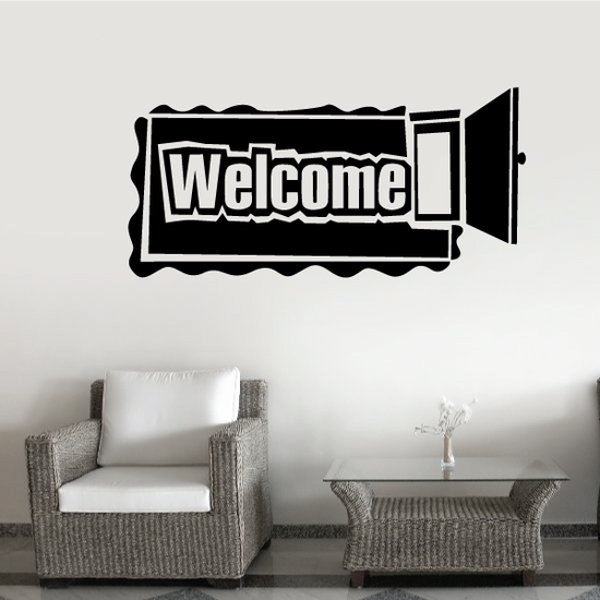 Welcome Wall Decal - Vinyl Decal - Car Decal - Business Sign - MC204