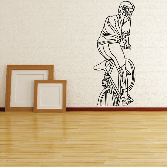 Watching Cyclist Detailed Decal
