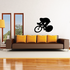 Low and Speedy Cyclist Decal