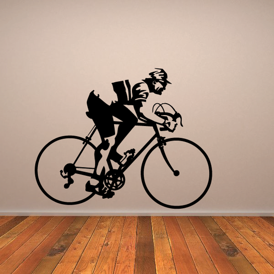 Side Profile Detailed Cyclist Decal