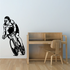 Leaning Stride Cyclist Decal