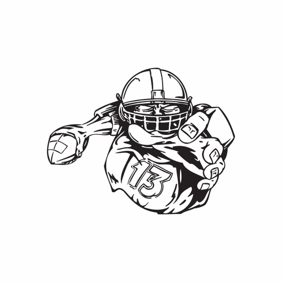 Football Wall Decal - Vinyl Decal - Car Decal - DC 081