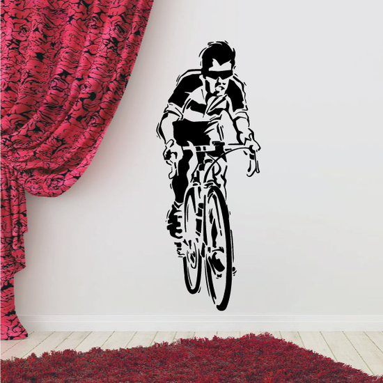 Cool Sporty Cyclist Decal