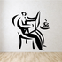 Man Coffee Newspaper Wall Decal - Vinyl Decal - Car Decal - Business Decal - MC13