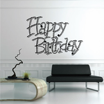Happy Birthday Wall Decal - Vinyl Decal - Car Decal - Business Sign - MC219