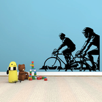 Two Cyclists Perspective Decal