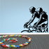 Male and Female Cyclist Decal
