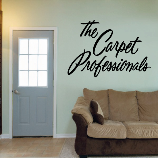 The Carpet Professionals Wall Decal - Vinyl Decal - Car Decal - Business Sign - MC223