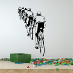 Cyclist in a Line Decal