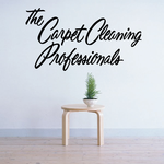 The Carpet Cleaning Professionals Wall Decal - Vinyl Decal - Car Decal - Business Sign - MC224